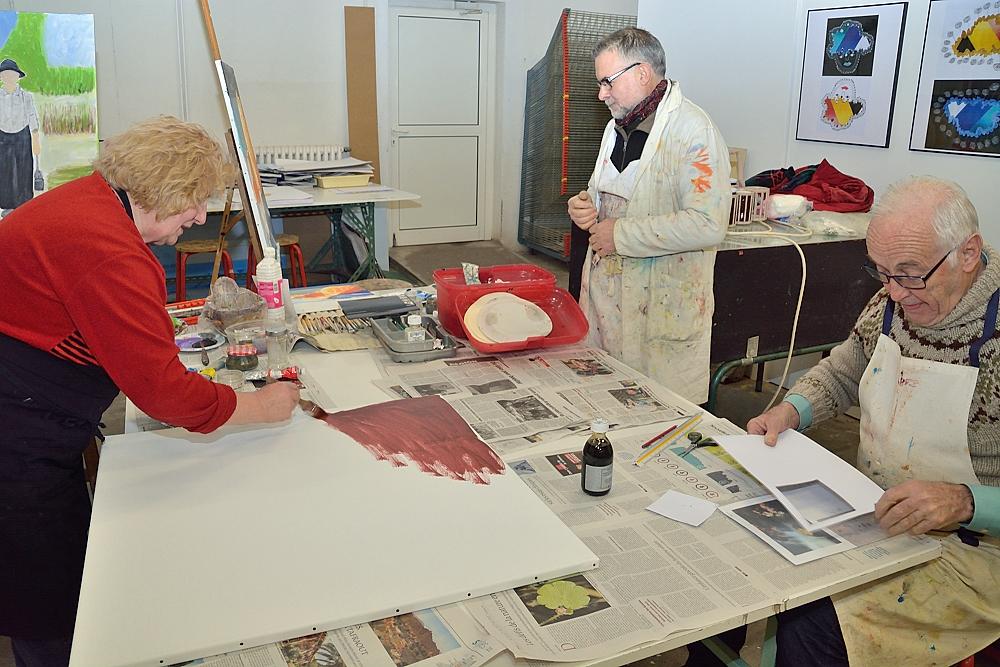 L 39 atelier peinture du cepagrap a ouvert ses portes au - Atelier chardon savard portes ouvertes ...