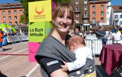 L'image du jour, maman et bébé pour la symbolique 2017 de la Run Attitude . C'est beau la vie !