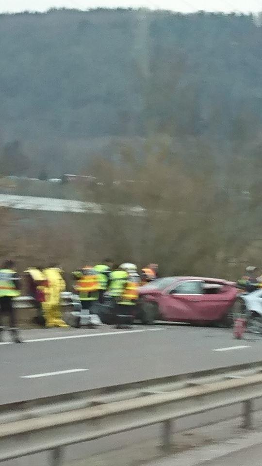 Vosges – Accident de la circulation sur la RN57 dans le sens Epinal-Remiremont