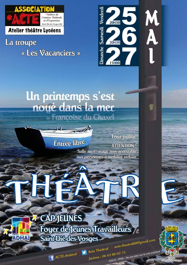 La troupe «Les Vacanciers» d'ACTE en représentations au Foyer de Jeunes Travailleurs en fin de semaine