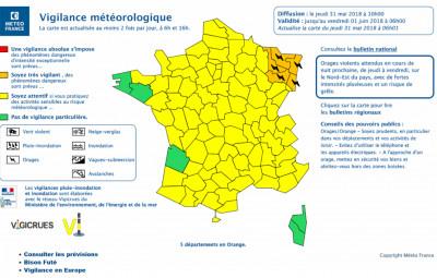 Département_Vosges_Vigilance_Orange