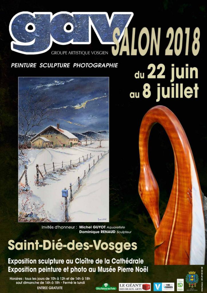 Le Groupe Artistique Vosgien tiendra salon du 22 juin au 8 juillet