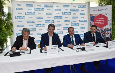 Signature convention afin de faciliter le logement des jeunes, Région Grand Est et Action Logement (c) Jean-Luc Stadler, Région Grand Est