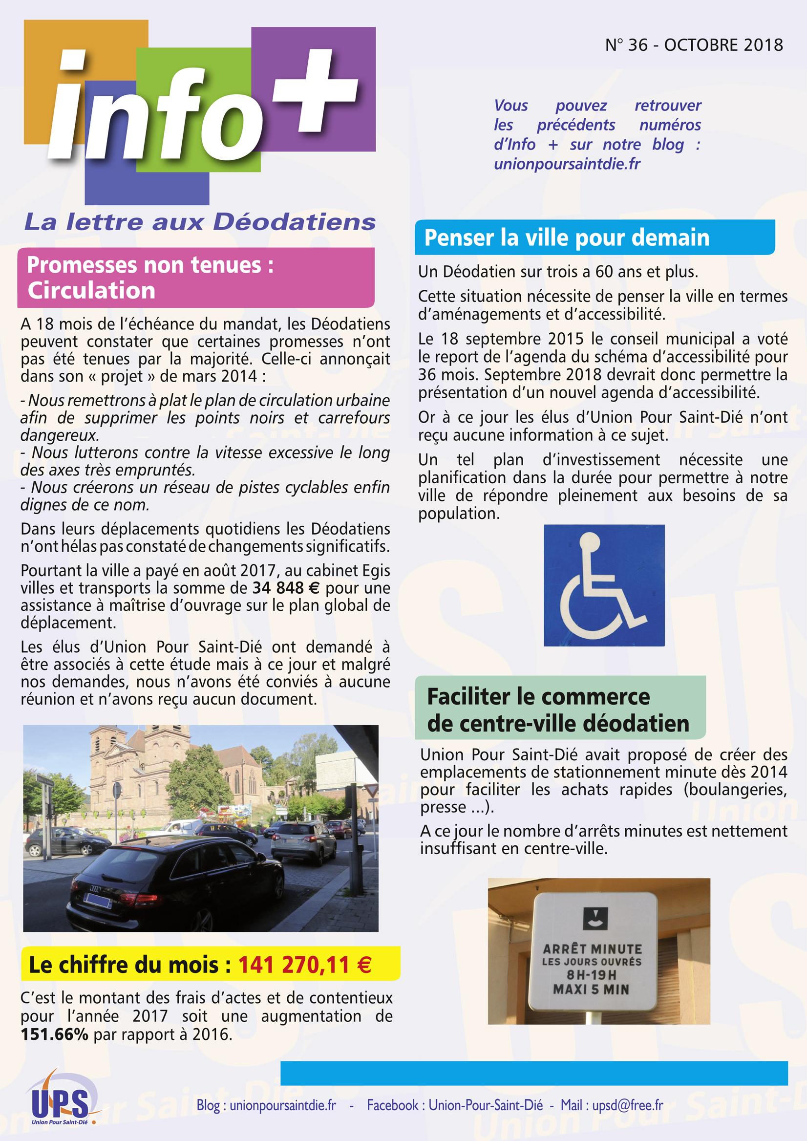 La Lettre Info Du Mois D Octobre Est Disponible Saint Die Info