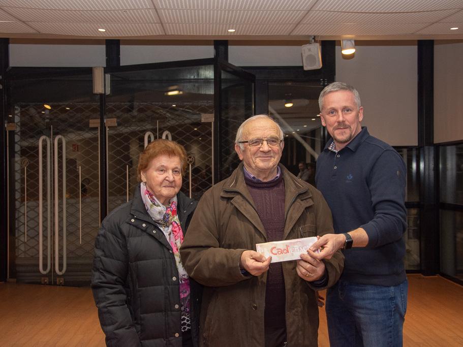 Daniel Claudel a remporté le gros lot du jeu, empochant pour 1000 euros de Cad'UDAC.