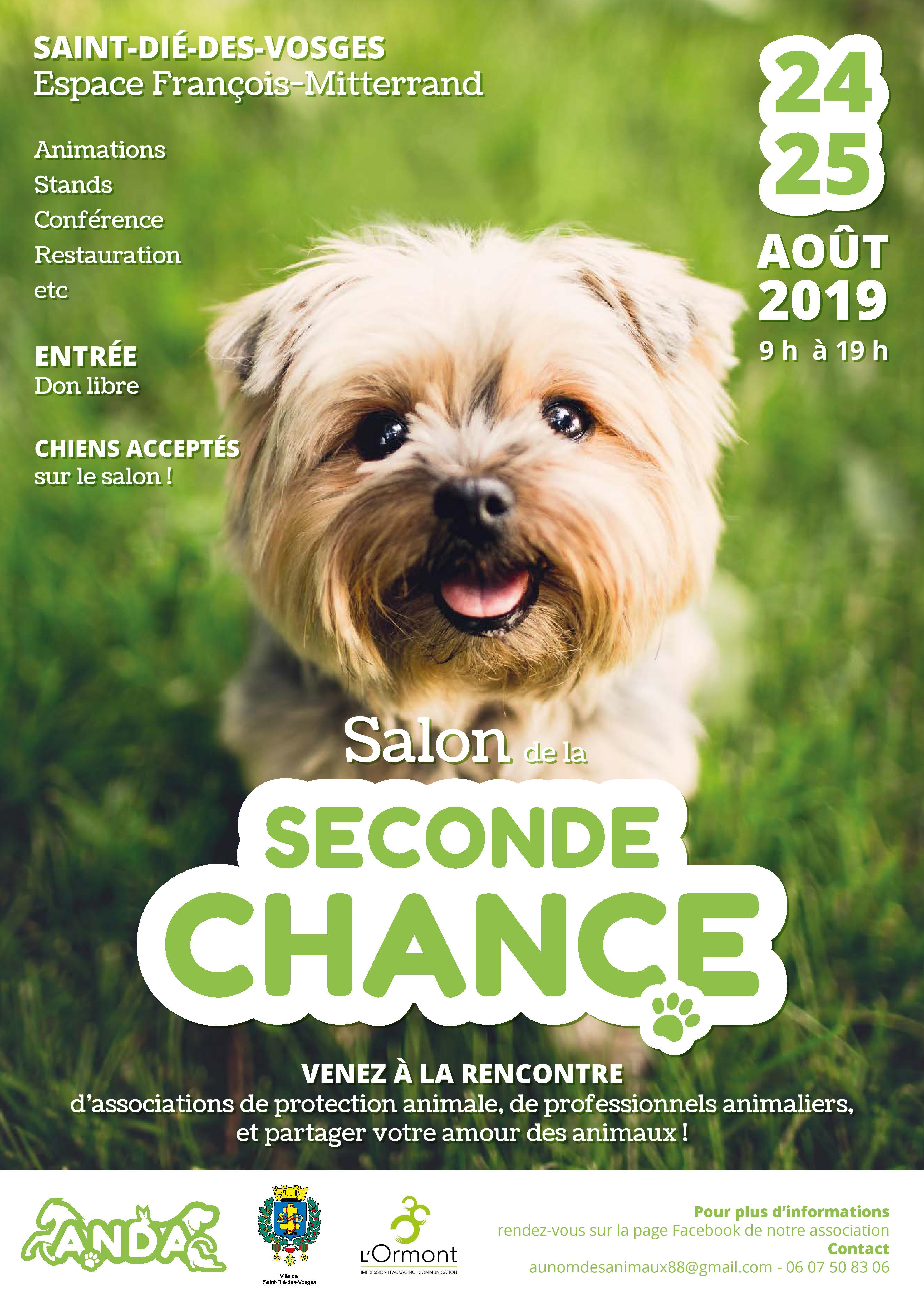 Rappel – Le salon animalier de la seconde chance de Saint-Dié-des-Vosges est de retour les 24 et 25 août