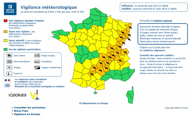 Carte Accord Trackidsp 006.Alsace Carte De Vigilance Orange