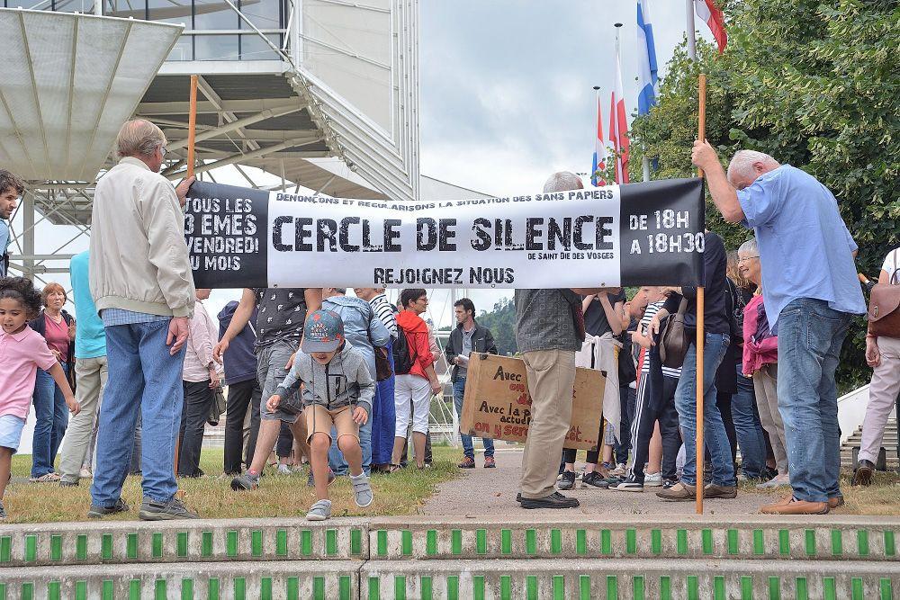 Cercle de Silence à Saint-Dié