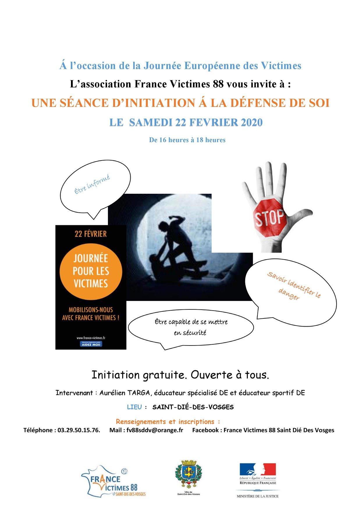Séance d'initiation à la défense de soi avec France Victimes 88