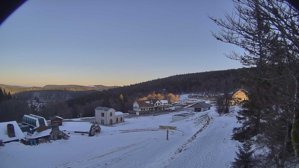 Le sommet du col de la Schlucht ce mardi matin.