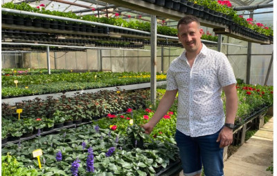 au jardin fleuri photo premium