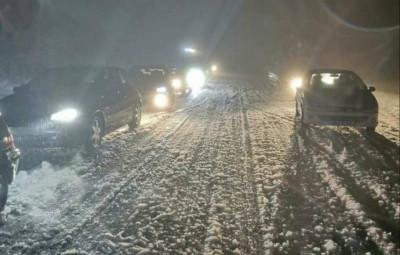 crete neige nuit