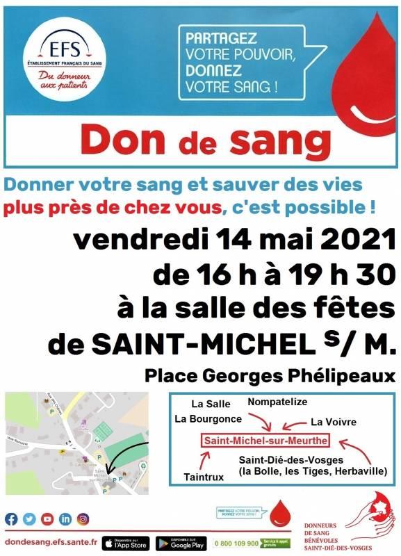 Affiche don du sang St Michel Gd mod